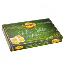 BAKTAT Lokum-Turkish Delight Pistachios 12x400g
